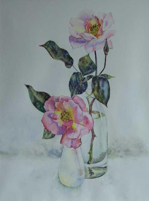 Rose in Smokey Glass