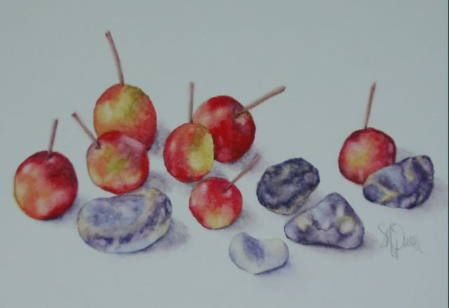 Cherries with Blue Stones