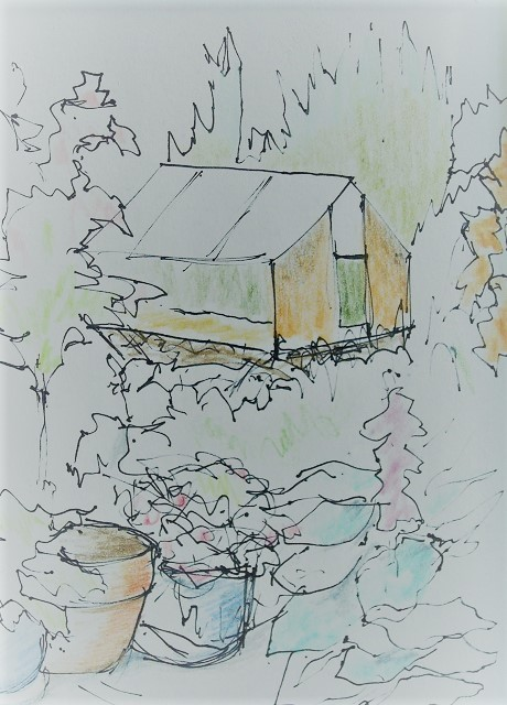 Sketch for A Corner of the Garden
