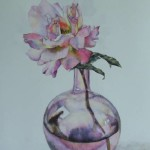 Rose in Smokey Glass