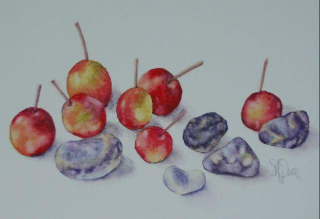 Cherries with Blue Stones